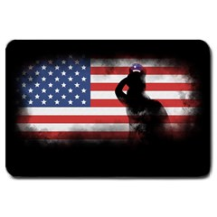 Honor Our Heroes On Memorial Day Large Doormat  by Catifornia
