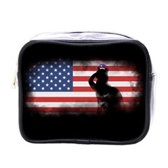 Honor Our Heroes On Memorial Day Mini Toiletries Bags by Catifornia
