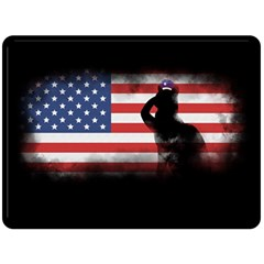 Honor Our Heroes On Memorial Day Fleece Blanket (large)  by Catifornia