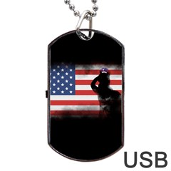 Honor Our Heroes On Memorial Day Dog Tag Usb Flash (one Side) by Catifornia