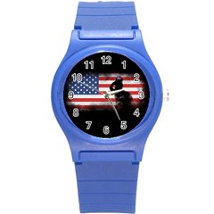 Honor Our Heroes On Memorial Day Round Plastic Sport Watch (s) by Catifornia
