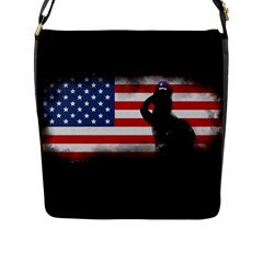 Honor Our Heroes On Memorial Day Flap Messenger Bag (l)  by Catifornia