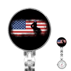Honor Our Heroes On Memorial Day Stainless Steel Nurses Watch by Catifornia