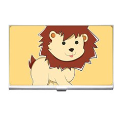 Happy Cartoon Baby Lion Business Card Holders by Catifornia