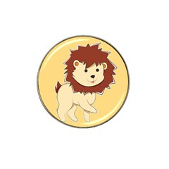 Happy Cartoon Baby Lion Hat Clip Ball Marker (10 Pack) by Catifornia