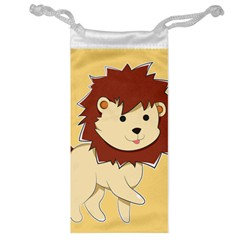 Happy Cartoon Baby Lion Jewelry Bag by Catifornia