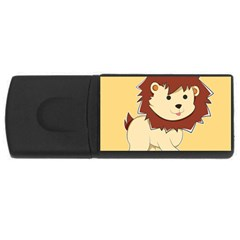 Happy Cartoon Baby Lion Usb Flash Drive Rectangular (4 Gb) by Catifornia