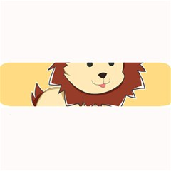 Happy Cartoon Baby Lion Large Bar Mats by Catifornia