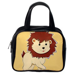 Happy Cartoon Baby Lion Classic Handbags (one Side) by Catifornia