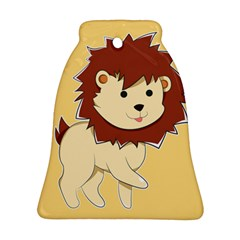 Happy Cartoon Baby Lion Ornament (bell) by Catifornia