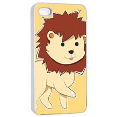Happy Cartoon Baby Lion Apple Iphone 4/4s Seamless Case (white) by Catifornia