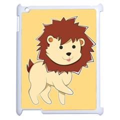 Happy Cartoon Baby Lion Apple Ipad 2 Case (white) by Catifornia