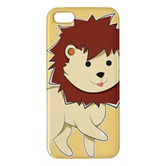 Happy Cartoon Baby Lion Apple Iphone 5 Premium Hardshell Case by Catifornia