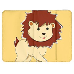Happy Cartoon Baby Lion Samsung Galaxy Tab 7  P1000 Flip Case by Catifornia