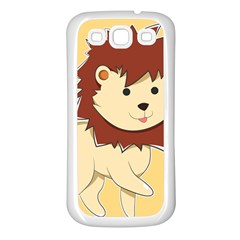 Happy Cartoon Baby Lion Samsung Galaxy S3 Back Case (white) by Catifornia