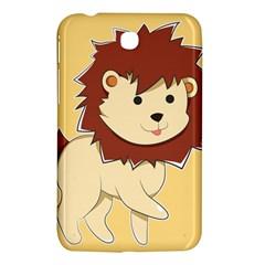 Happy Cartoon Baby Lion Samsung Galaxy Tab 3 (7 ) P3200 Hardshell Case  by Catifornia
