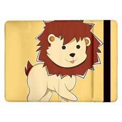 Happy Cartoon Baby Lion Samsung Galaxy Tab Pro 12 2  Flip Case by Catifornia