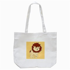 Happy Cartoon Baby Lion Tote Bag (white) by Catifornia