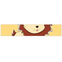 Happy Cartoon Baby Lion Flano Scarf (large) by Catifornia
