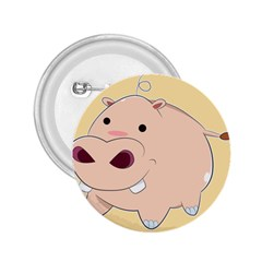 Happy Cartoon Baby Hippo 2 25  Buttons by Catifornia