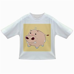 Happy Cartoon Baby Hippo Infant/toddler T Shirts by Catifornia