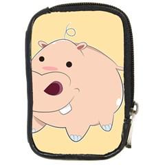 Happy Cartoon Baby Hippo Compact Camera Cases by Catifornia