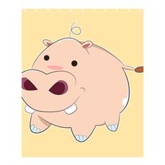 Happy Cartoon Baby Hippo Shower Curtain 60  X 72  (medium)  by Catifornia