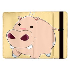Happy Cartoon Baby Hippo Samsung Galaxy Tab Pro 12 2  Flip Case by Catifornia