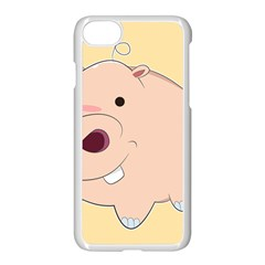 Happy Cartoon Baby Hippo Apple Iphone 7 Seamless Case (white) by Catifornia