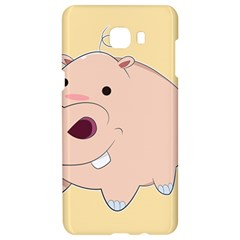 Happy Cartoon Baby Hippo Samsung C9 Pro Hardshell Case  by Catifornia
