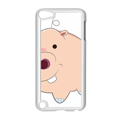 Happy Cartoon Baby Hippo Apple Ipod Touch 5 Case (white) by Catifornia