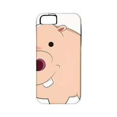 Happy Cartoon Baby Hippo Apple Iphone 5 Classic Hardshell Case (pc+silicone) by Catifornia