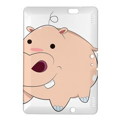 Happy Cartoon Baby Hippo Kindle Fire Hdx 8 9  Hardshell Case by Catifornia