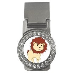 Happy Cartoon Baby Lion Money Clips (cz)  by Catifornia