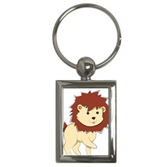 Happy Cartoon Baby Lion Key Chains (rectangle)  by Catifornia