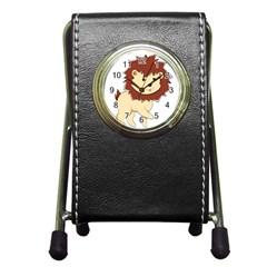 Happy Cartoon Baby Lion Pen Holder Desk Clocks by Catifornia