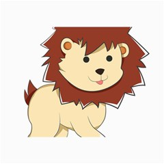 Happy Cartoon Baby Lion Canvas 12  X 18   by Catifornia