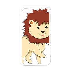 Happy Cartoon Baby Lion Apple Iphone 4 Case (white) by Catifornia