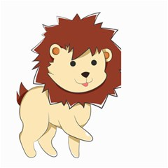 Happy Cartoon Baby Lion Small Garden Flag (two Sides) by Catifornia