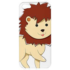 Happy Cartoon Baby Lion Apple Iphone 5 Hardshell Case by Catifornia