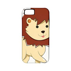 Happy Cartoon Baby Lion Apple Iphone 5 Classic Hardshell Case (pc+silicone) by Catifornia