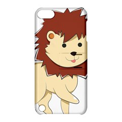 Happy Cartoon Baby Lion Apple Ipod Touch 5 Hardshell Case With Stand by Catifornia