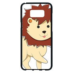 Happy Cartoon Baby Lion Samsung Galaxy S8 Plus Black Seamless Case by Catifornia