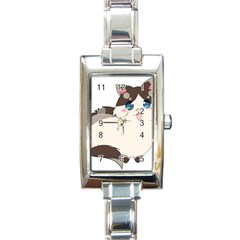 Ragdoll Cat For Life Rectangle Italian Charm Watch by Catifornia