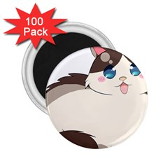 Ragdoll Cat For Life 2 25  Magnets (100 Pack)  by Catifornia