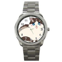 Ragdoll Cat For Life Sport Metal Watch by Catifornia