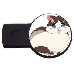 Ragdoll Cat For Life Usb Flash Drive Round (4 Gb) by Catifornia