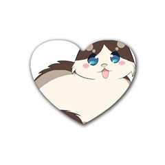 Ragdoll Cat For Life Rubber Coaster (heart)  by Catifornia