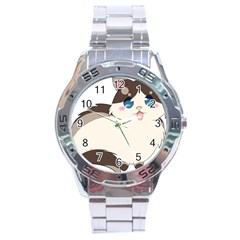 Ragdoll Cat For Life Stainless Steel Analogue Watch by Catifornia