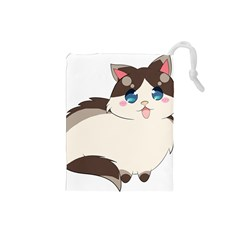 Ragdoll Cat For Life Drawstring Pouches (small)  by Catifornia